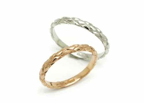 19:福岡で安い結婚指輪 マリ・エ・マリ Pt950 ¥62,640- K18PG ¥38,880-