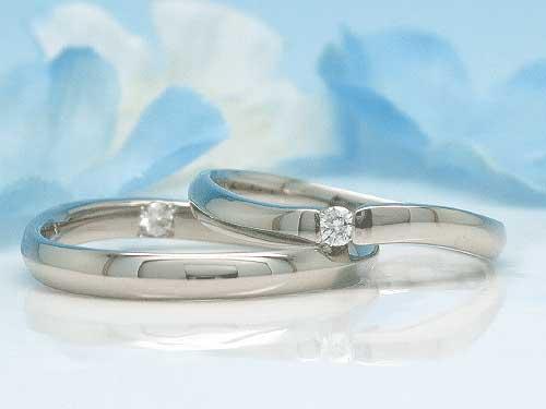 28:福岡で希少 安いPd950 結婚指輪 左:¥65,340- 右:¥62,370-