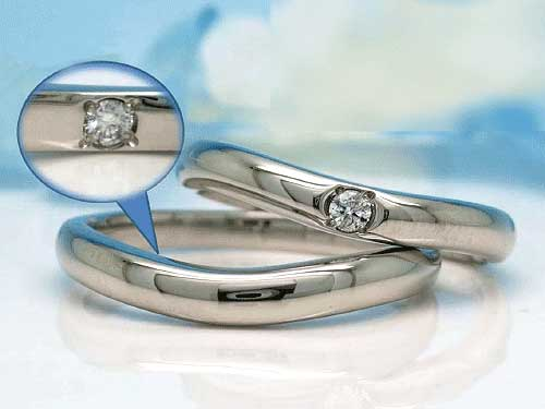 福岡で希少 安いだけではない 結婚指輪 左:Pd950 ¥74,250- 右:Pd950 ¥68,310-