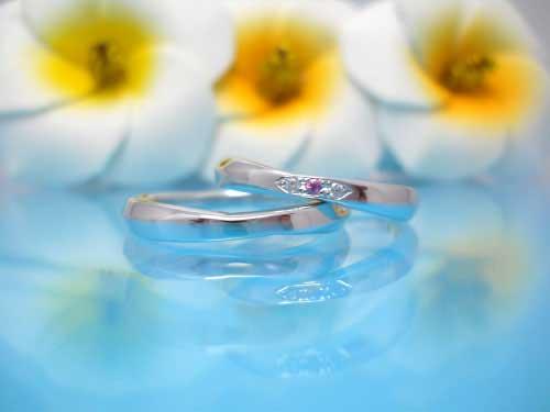 22:結婚指輪が福岡で安い ちゅらばな yuimaru 左:¥60,480- 右:¥64,584-
