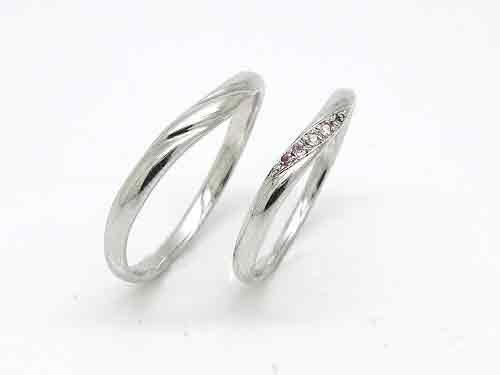 1-2:人気の結婚指輪 絆 KZ-PR-SKM, PR-SKL