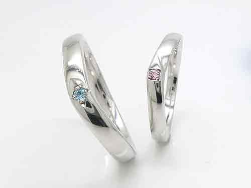 1-1:人気の結婚指輪 絆 KZ-V4-32, V3-M5