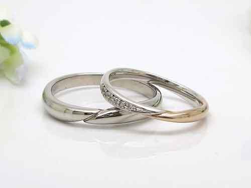 4-2:コンビネーションが人気の結婚リング 稟心