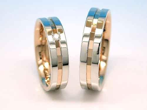 結婚リング:巧心 K18 Pt900