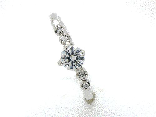 婚約指輪:結心 ハードPt900 0.2ct, 0.01ct×2, 0.006ct×2 ¥145,476-