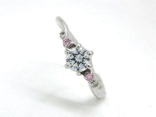 婚約指輪:結心 ハードPt900 0.2ct ¥141,480-