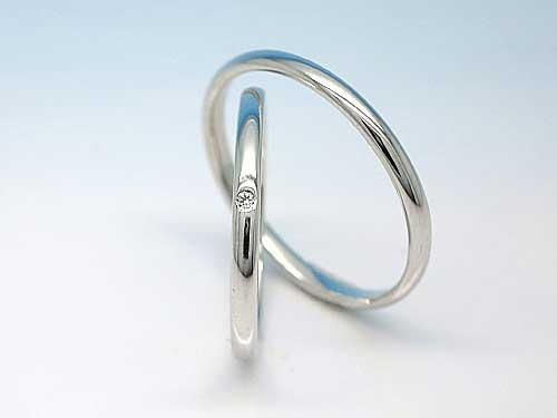 結婚指輪:ハードPt900 ¥39,999〜 (ダイヤ別)
