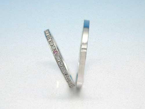 結婚指輪:結心 ハードPt900 Dia180度up ¥81,000- ¥39,992〜